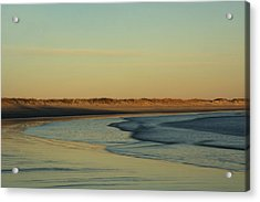 Golden Morning On Rhode Island Coast Acrylic Print