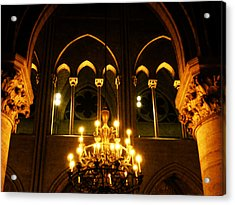 Golden Notre Dame Acrylic Print