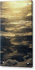 Golden Ocean Acrylic Print