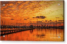 Golden Orange Sunrise Acrylic Print