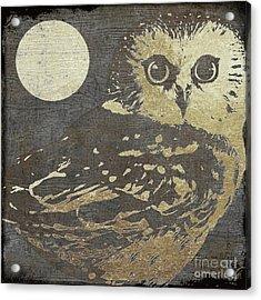 Golden Owl Acrylic Print