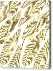 Golden Palm Acrylic Print by Uma Gokhale