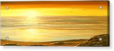 Golden Panoramic Sunset Acrylic Print by Gina De Gorna