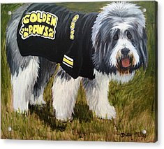 Golden Paws Acrylic Print by Dustin Miller