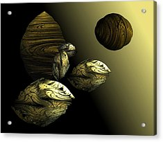 Golden Planet Acrylic Print by Ricky Kendall