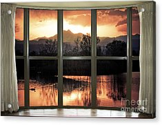 Golden Ponds Bay Window View Acrylic Print