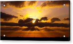 Golden Ray Sunset Acrylic Print by James Granberry