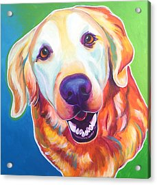 Golden Retriever - Daisy Mae Acrylic Print
