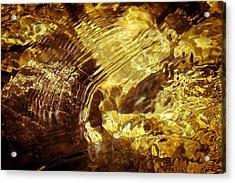 Golden Ripples Acrylic Print