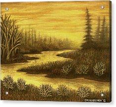 Golden River 01 Acrylic Print
