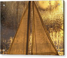 Golden Sails Acrylic Print by Lori  Secouler-Beaudry
