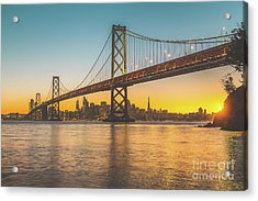 Golden San Francisco Acrylic Print by JR Photography