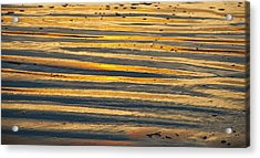 Golden Sand On Beach Acrylic Print
