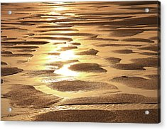 Golden Sands Acrylic Print by Roupen  Baker
