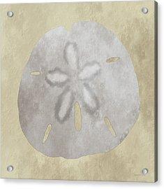 Golden Sandy Dollar Acrylic Print