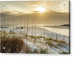 Golden Seagrove Beach Sunset Acrylic Print
