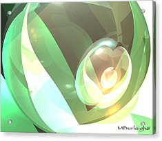 Golden Seed Acrylic Print by Michael Burleigh