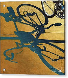 Golden Shadows - Wheels Acrylic Print by Linda Apple