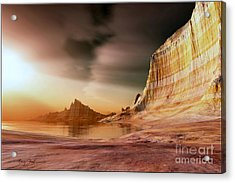 Golden Shores Acrylic Print by Corey Ford