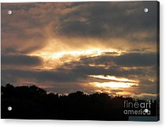 Golden Sky Of Plymouth 1 Acrylic Print
