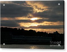 Golden Sky Of Plymouth 3 Acrylic Print