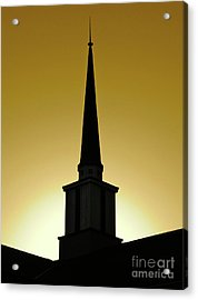 Golden Sky Steeple Acrylic Print by CML Brown