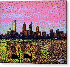 Golden Skyline Perth Acrylic Print