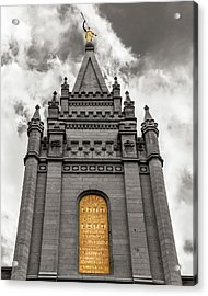 Golden Slc Temple Acrylic Print