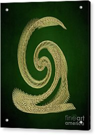 Golden Snake Abstract Acrylic Print