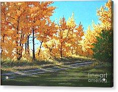 Golden Splendor Acrylic Print