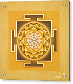 Golden Sri Yantra - The Original Acrylic Print