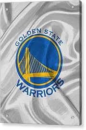 Golden State Warriors Acrylic Print by Afterdarkness