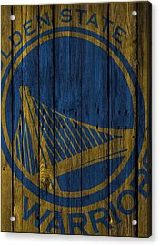 Golden State Warriors Wood Fence Acrylic Print by Joe Hamilton