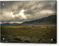 Acrylic Print featuring the photograph Golden Storm by Andrew Matwijec