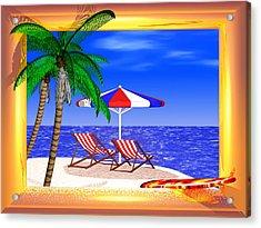 Golden Summer Acrylic Print