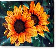 Golden Sun Acrylic Print by Laura Bell