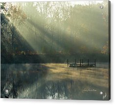 Golden Sun Rays Acrylic Print by George Randy Bass