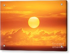 Golden Sunball Acrylic Print by Bob Abraham - Printscapes