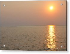 Golden Sunrise Acrylic Print by Bill Perry