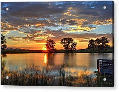 Acrylic Print featuring the photograph Golden Sunrise by Fiskr Larsen