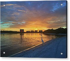 Golden Sunrise Acrylic Print