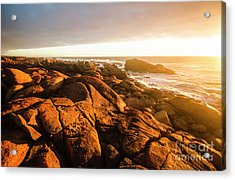 Golden Sunset Coast Acrylic Print