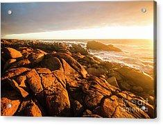 Golden Sunset Coast Acrylic Print
