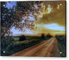 Golden Sunset Acrylic Print by Dustin Soph
