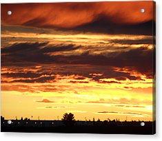 Golden Sunset IIi Acrylic Print by Mark Lehar