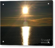 Acrylic Print featuring the photograph Golden Sunset by Kim Prowse