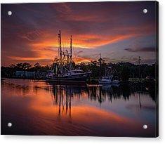 Golden Sunset On The Bayou Acrylic Print