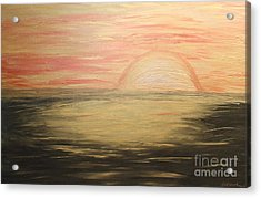 Golden Sunset Acrylic Print by Rachel Hannah