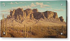 Golden Superstitions Acrylic Print
