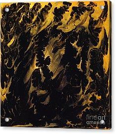 Golden Swirls Acrylic Print